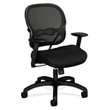 HON Wave Mesh Mid-Back Chair, Synchro-Tilt, Adjustable Arms, Black Sandwich Mesh (BSXVL712MM10)