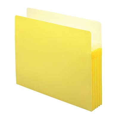 Smead File Pocket, Straight-Cut Tab, 5-1/4 Expansion, Letter Size, Yellow, 10/Box (73243)