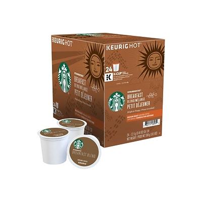 Starbucks Breakfast Blend Coffee, Keurig® K-Cup® Pods, Medium Roast, 24/Box (9736)
