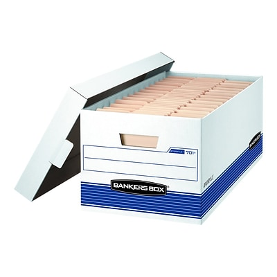 Bankers Box Stor/File Corrugated Boxes, Letter Size, White/Blue, 20/Carton (FEL-0070110)