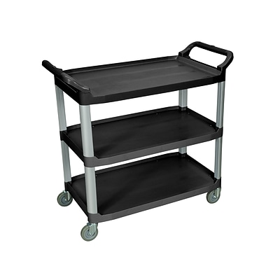 Luxor 3-Shelf Serving Cart, Black (SC13-B)