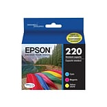 Epson 220 Color Combination Ink Cartridges, Standard, 3/Pack (T220520-S)