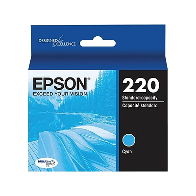 Epson 220 Cyan Ink Cartridge, Standard (T220220S)