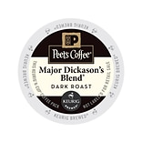 Peets Coffee Major Dickasons Blend, Keurig K-Cup Pods, Dark Roast, 88/Carton (65470)