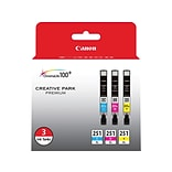 Canon CLI 251 XL 3 Color Combination Ink Cartridges, High Yield, 3/Pack (6449B009)