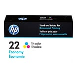 HP 22 Color Combination Ink Cartridge, Economy (B3B19AN)