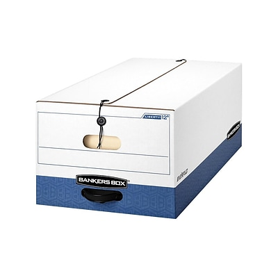 Bankers Box Liberty Corrugated Boxes, Legal Size, White/Blue, 12/Carton (00012)