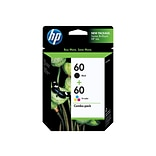 HP 60 Black/Color Ink Cartridges, Standard, 2/Pack (N9H63FN#140)
