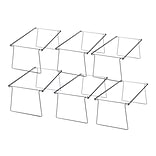 Officemate Adjustable Hanging Folder Frames, Legal Size, Silver, 6/Box (98621)