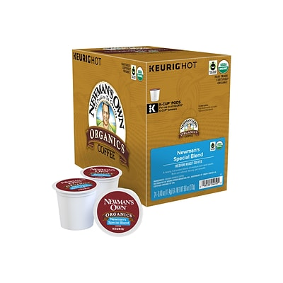 Newmans Own Organics Special Blend Coffee, Keurig® K-Cup® Pods, Medium Roast, 24/Box (4050)