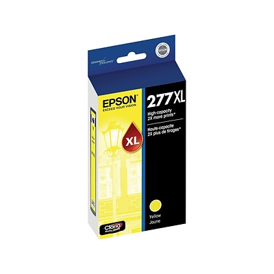 Epson 277XL Yellow Ink Cartridge, High Yield (T277XL420-S)