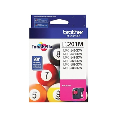 Brother LC 201 Magenta Ink Cartridge, Standard (LC201M)