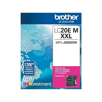 Brother LC 20EM XXL Magenta Ink Cartridge, Extra High Yield