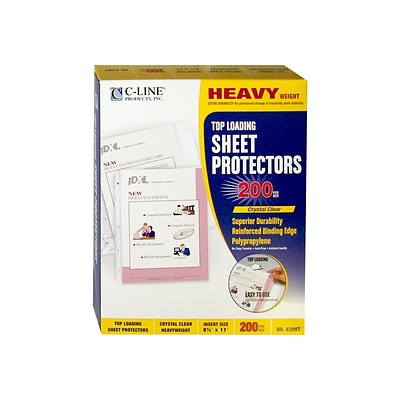 C-Line Heavyweight Sheet Protectors, Clear, 200/Box (62097)