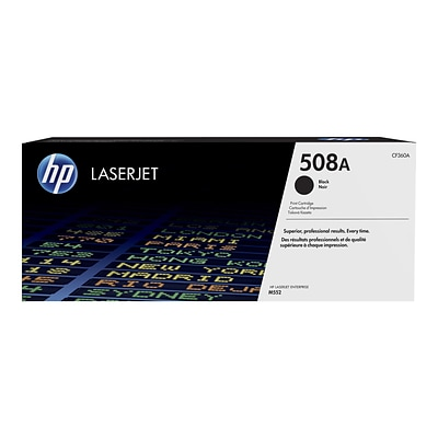HP 508A Black Toner Cartridge, Standard (CF360A)