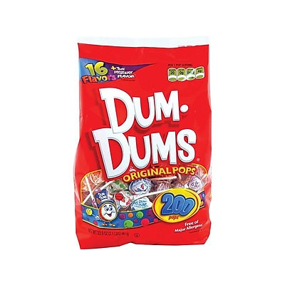 Dum Dums Lollipops, Assorted, 33.9 Oz., 200/Pack (SPN71)