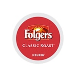 Folgers Classic Roast Coffee, Keurig® K-Cup® Pods, Medium Roast, 24/Box (6685)