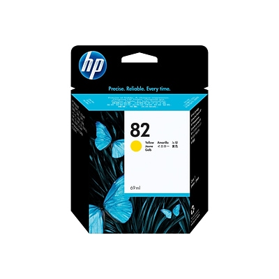 HP 82 Yellow Ink Cartridge, 69ml (C4913A)