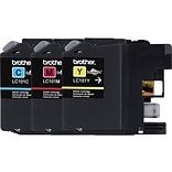 Brother LC 101CL Color Combination Ink Cartridges, Standard, 3/Pack (LC1013PKS)