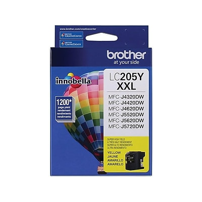 Brother LC 205 Yellow Ink Cartridge, Extra High Yield