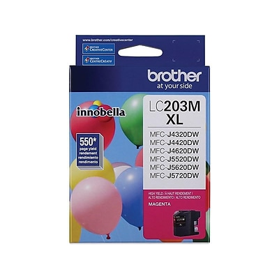 Brother LC203 Magenta Ink Cartridge, High Yield (LC203MS)