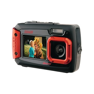 Coleman Duo2 2V9WP 20 Megapixels Point & Shoot Camera, Red