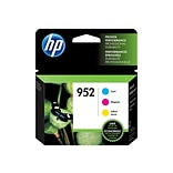 HP 952 Color Combination Ink Cartridges, 3/Pack (N9K27AN#140)
