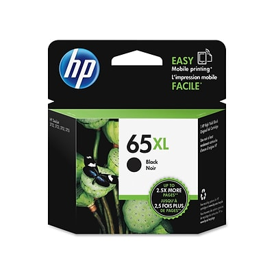HP 65XL Black Ink Cartridge, High Yield (N9K04AN#140)