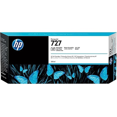 HP 727 Photo Black Ink Cartridge, 300ml (F9J79A)