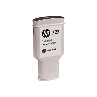 HP 727 Black Matte Ink Cartridge, 300ml (C1Q12A)