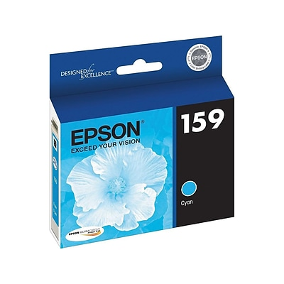 Epson 159 Cyan Ink Cartridge, Standard (T159220)