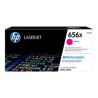 HP 656X Magenta Toner Cartridge, High Yield (CF463X)