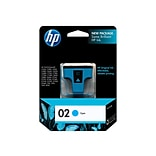 HP 02 Cyan Ink Cartridge, Standard (C8771WN#140)