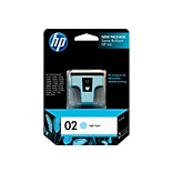 HP 02 Light Cyan Ink Cartridge, Standard (C8774WN#140)