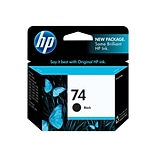 HP 74 Black Ink Cartridge, Standard (CB335WN#140)