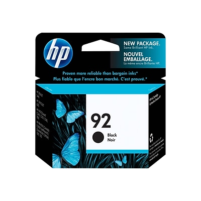 HP 92 Black Standard Yield Ink Cartridge (C9362WN#140)