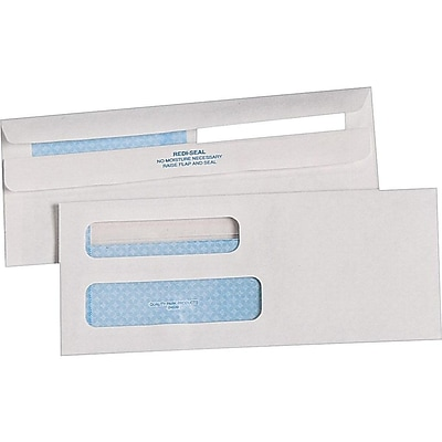Quality Park Redi-Seal Security Tinted #8 5/8 Envelopes, 3-5/8 x 8-5/8, White, 500/Box (QUA24539)