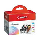 Canon CLI-8 Color Combination Ink Cartridges, Standard, 3/Pack (0621B016)