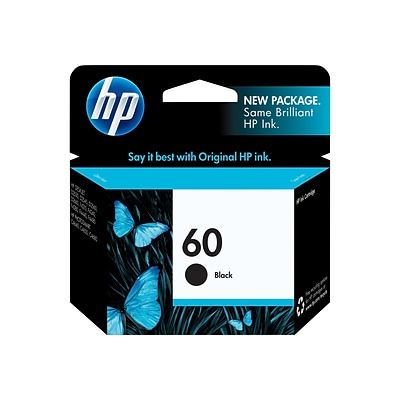HP 60 Black Standard Yield Ink Cartridge (CC640WN)