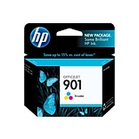 HP 901 Color Combination Ink Cartridge, Standard (CC656AN#140)