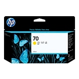 HP 70 Yellow Ink Cartridge, 130ml (C9454A)