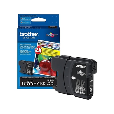 Brother LC 65 Black Ink Cartridge, High Yield (LC65HYBKS)