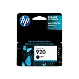 HP 920 Black Ink Cartridge, Standard (CD971AN#140)