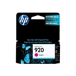 HP 920 Magenta Ink Cartridge, Standard (CH635AN#140)