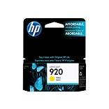 HP 920 Yellow Ink Cartridge, Standard (CH636AN#140)