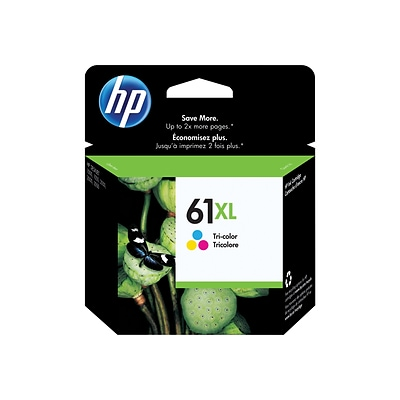 HP 61XL Color Ink Cartridge, High Yield (CH564WN#140)