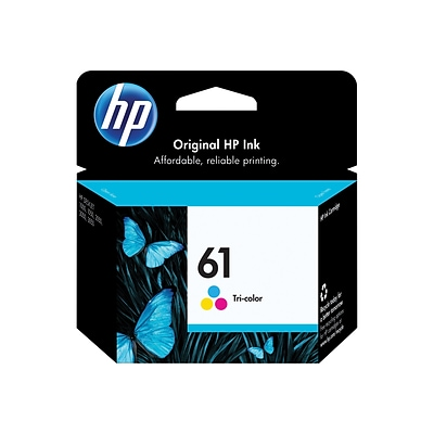 HP 61 Tri-Color Ink Cartridge, Standard Yield (CH562WN)