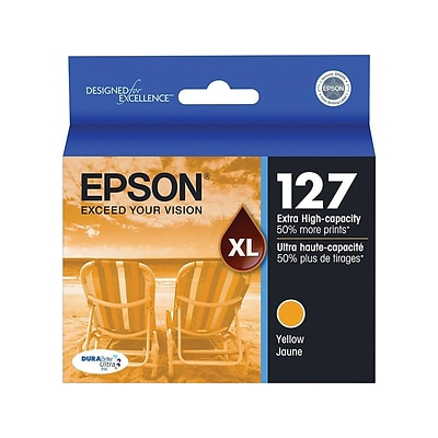 Epson T127 Yellow Ink Cartridge, Extra High Yield (T127420-S)