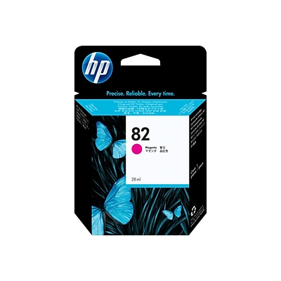 HP 82 Magenta Ink Cartridge, Standard (CH567A)