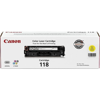 Canon 118 Yellow Toner Cartridge, Standard (2659B001)